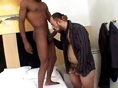 Big ebony dick fucking a hairy bear