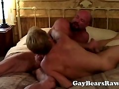 Big mature bear ramming ass