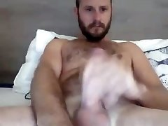 Steamy Str8 Aussie with BaseballBat-Cock cums on his Hands #46