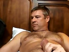 Handsome dady otter enjoying wanking