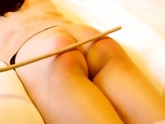 Chinese amateur flagellating with gimp Niu