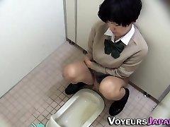 Asian teenager pissing