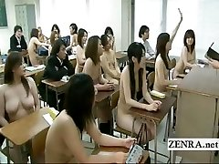 Freaky Japan college with nude in school schoolgirls