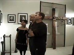 Freaky Punk Asian Chick Watches a Hardcore Bukkake Video