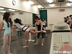 Dark haired Asian tramp dancing ballet part5