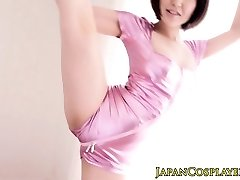 Supple japanese stunner stimulated with toys