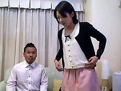 Tomomi Shimazaki Pulverized in front of Spouse (Uncensored)