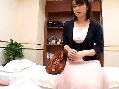 A naughty sex medic sensually examines his asian patient