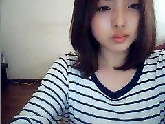 koreaans meisje op webcam
