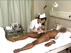 Chinese nurses drain black cock