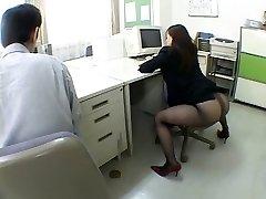Ιαπωνικά κορίτσι γραφείο με τρελαίνει από airliner1