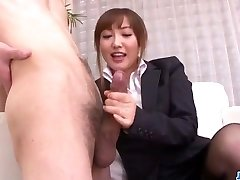 Mami Asakura office venture with her manager