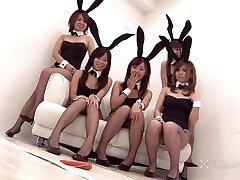 Japonais Lapin Orgie (JAV Uncensored)