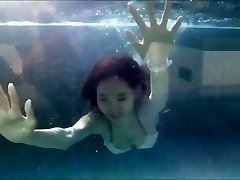 Young Asian Girl in Sexy Bathing Suit at a Swimming Pool