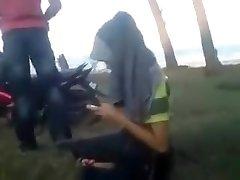 Malay couple outdoor romp