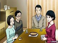 Hentai Mädchen saugt und wird geleckt