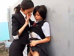 Heißesten japanische Hure Kurumi Katase in Exotische College, Fingersatz JAV movie