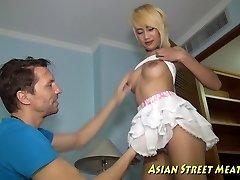 Visoka Tajlandski Djevojka Zadovoljstvo Napeta Ass