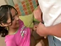 Babysitter fucks dad while mother is at work