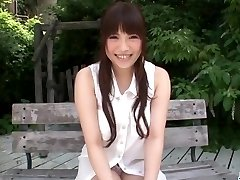 Jiggly outdoor solo getting off with Yuri Sato