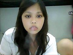 Roken Aziatische Webcam Ik