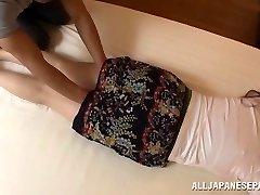 Aoi Aoyama seductive hot mature Chinese babe in hardcore action