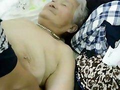 80year elderly Japanese Granny Still gets Creamed (Uncensored)