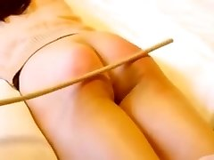 Asian girl caning