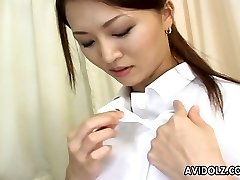 Sizzling and lascivious Japanese nurse is getting mischievous with her patient