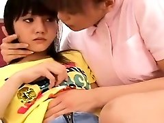 Subtitled Chinese lesbo nurse with aroused patient