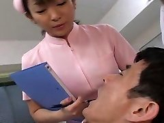Japanese dentist and nurse drooling on patient