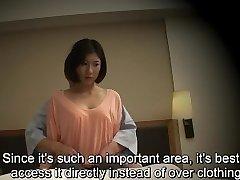 Subtitled Japanese motel massage oral fuck-fest nanpa in HD