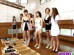 Insane girls are needy to poke