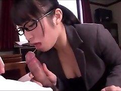 Asian office damsel blowjob service