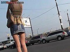Japanese upskirt voyeur action