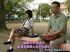Asian model has scorching public sex part2