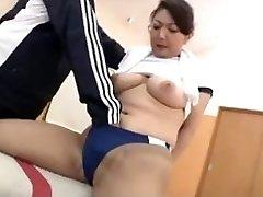 Sexy āzijas Sporta zālē