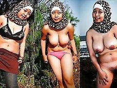 (亚洲)的业余的女孩穿衣服脱衣服的照片,部分7