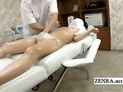 Subtitled shy Chinese schoolgirl first erotic massage