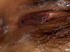 Young Asian babe receives a cream crammed pussy