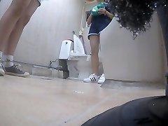 Korean girl using rest room part 5