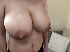 wife's huge lactating orbs 1