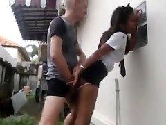White guy fucks hans asiatiske maid