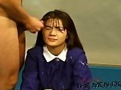 Bukkake Highschool Lesson 13 Four/Four Asian uncensored blowjob