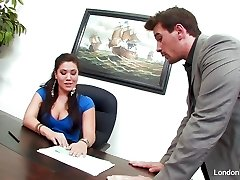 Chinese hottie London Keyes gets an office smash