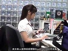 Jummy asian office female blackmailed