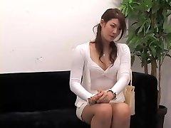 Adorable Jap rails a ramrod in hidden webcam interview video