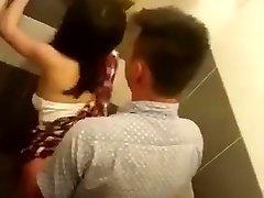 Spying public toilet Chinese couple fucking