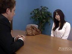 Job interview leads sucking a knob