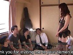 Subtitled Asian AV star Tsubaki Katou gokkun soiree